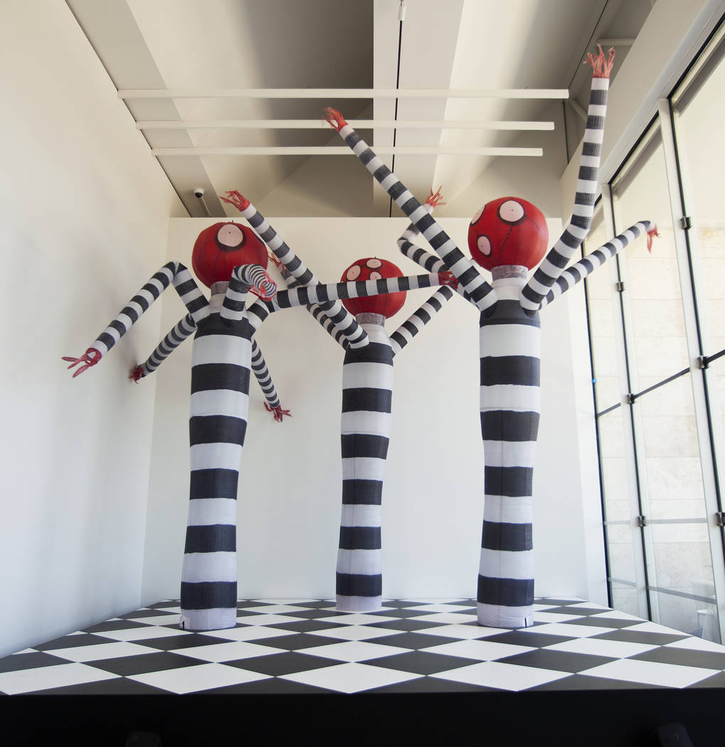 """Tim Burton @ the Neon Museum"" will be an exhibition of Burton's original artwork beginning in October 2019. These images are representative of the sort of large-scale sculptures and installations ..."