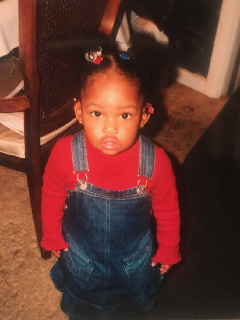 A childhood photo of Indya Willis taken in her grandmother's home in Chicago.