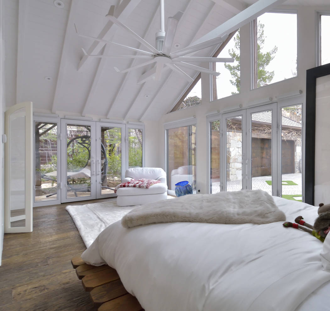 Bill Hughes/Real Estate Millions The master bedroom adheres to the home's simple design.