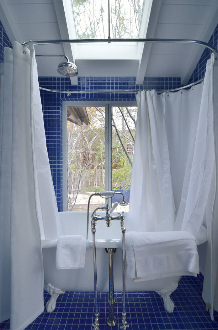 The bath is the only room in the house with a door. (Bill Hughes/Real Estate Millions)
