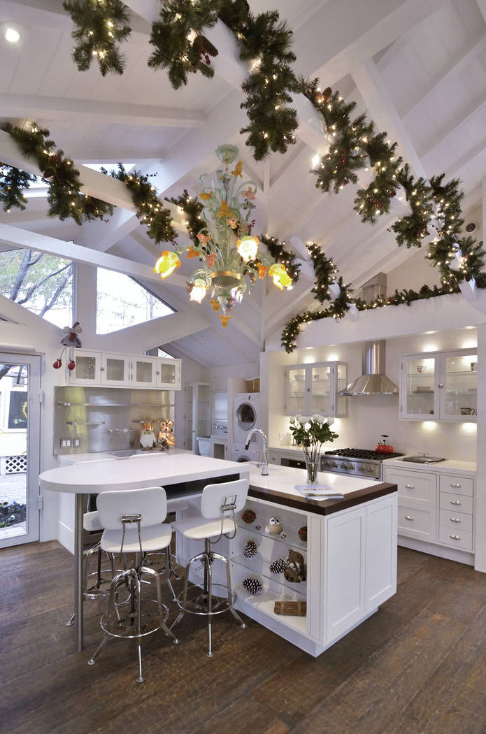 Brett Torino has decked out his Blue Diamond getaway for the holidays. (Bill Hughes/Real Estate Millions)