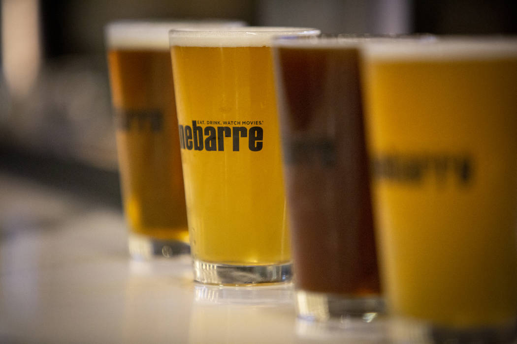 Beers are on display at Regal's Cinebarre, Palace Station's new movie theater as it hosts its grand opening in Las Vegas, Tuesday, Dec. 18, 2018. Caroline Brehman/Las Vegas Review-Journal