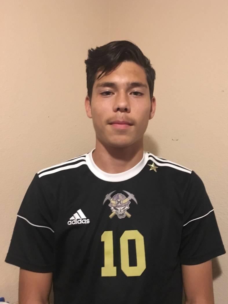 Sunrise Mountain's Angel Arreola is a member of the Nevada Preps all-state boys soccer team.