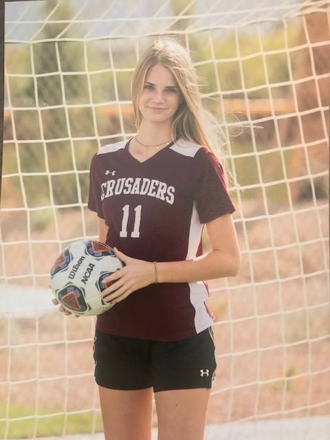 Faith Lutheran's Hannah Thomas is a member of the Nevada Preps all-state girls soccer team.