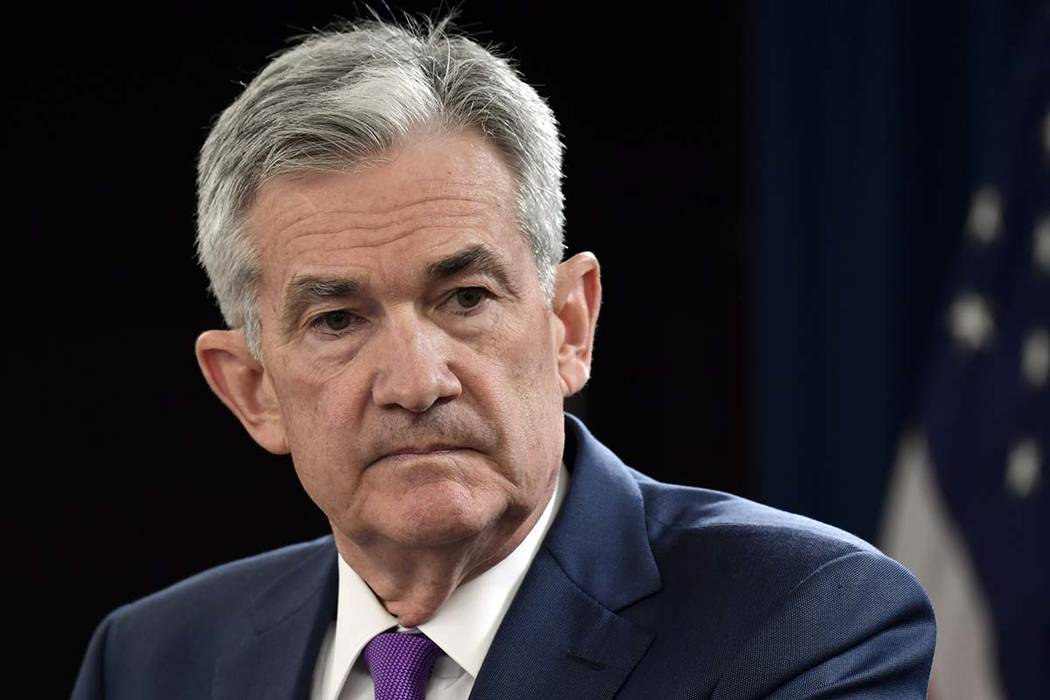 Federal Reserve Chairman Jerome Powell listens to a question during a news conference in Washington on Sept. 26, 2018. (AP Photo/Susan Walsh, File)