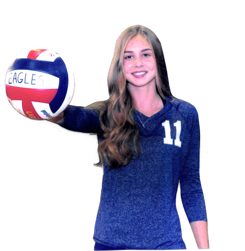 Boulder City's Kamry Bailey is a member of the Nevada Preps all-state girls volleyball team.