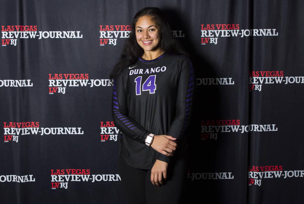 Durango's Tehani Faitau is a member of the Nevada Preps all-state girls volleyball team.