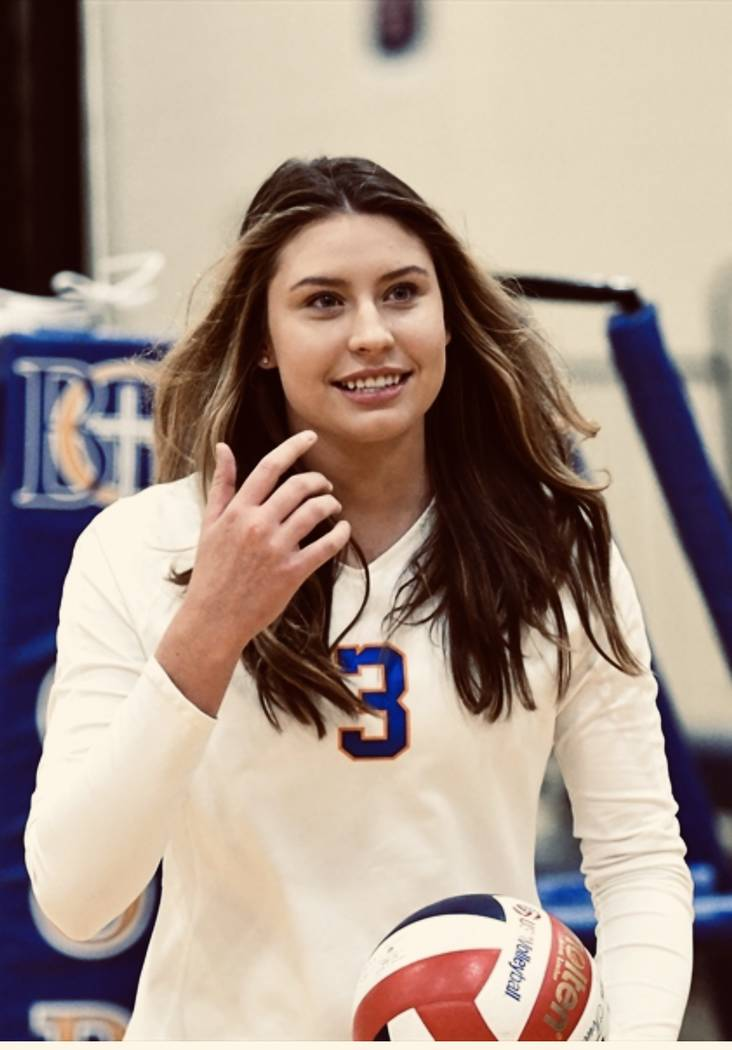 Bishop Gorman's Tommi Stockham is a member of the Nevada Preps all-state girls volleyball team.