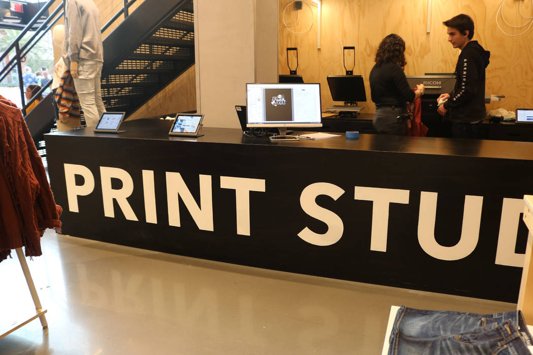 American Eagle Outfitter's Be You flagship on the Las Vegas Strip offers a number of customization features including screen-printing and personalized jacrons. (Janna Karel Las Vegas Review-Journal)