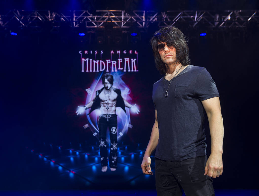 Illusionist Criss Angel at the site of his new theater at Planet Hollywood Resort on Thursday, Dec. 6, 2018, in Las Vegas. Benjamin Hager Las Vegas Review-Journal