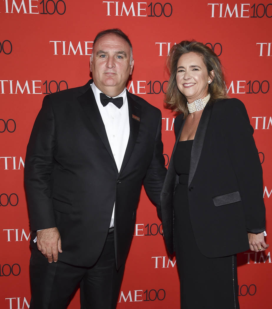 Chef Jose Andres and wife Patricia Fernandez de la Cruz attend the Time 100 Gala celebrating the 100 most influential people in the world at Frederick P. Rose Hall, Jazz at Lincoln Center on Tuesd ...