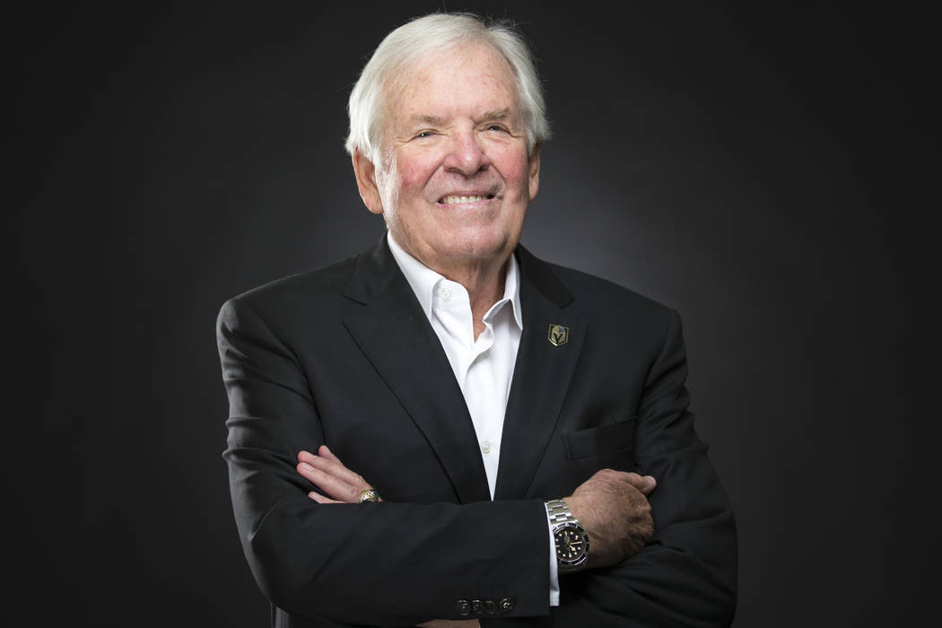 Vegas Golden Knights owner Bill Foley poses at the Review-Journal's photo studio in Las Vegas on Friday, Dec. 21, 2018. Richard Brian Las Vegas Review-Journal @vegasphotograph