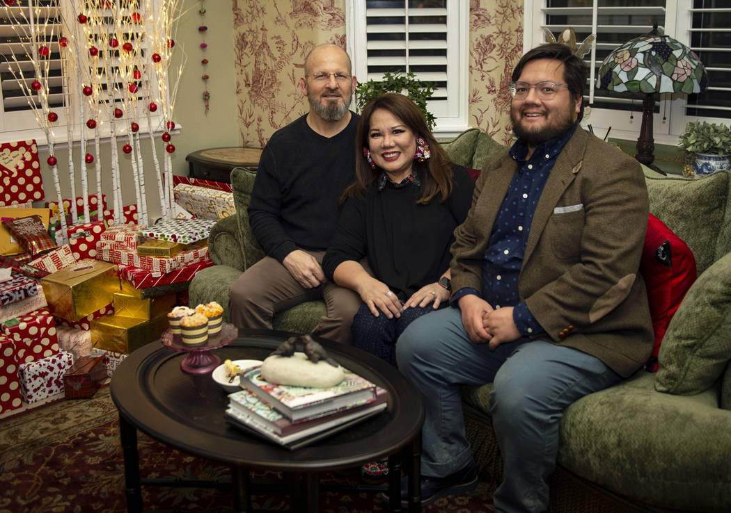 Husband and wife Kurt Faux, 61, left, and Christie Faux, 63, sit with their son Jordan Faux, 36, in their home in Henderson, Saturday, Dec. 22, 2018. Caroline Brehman/Las Vegas Review-Journal