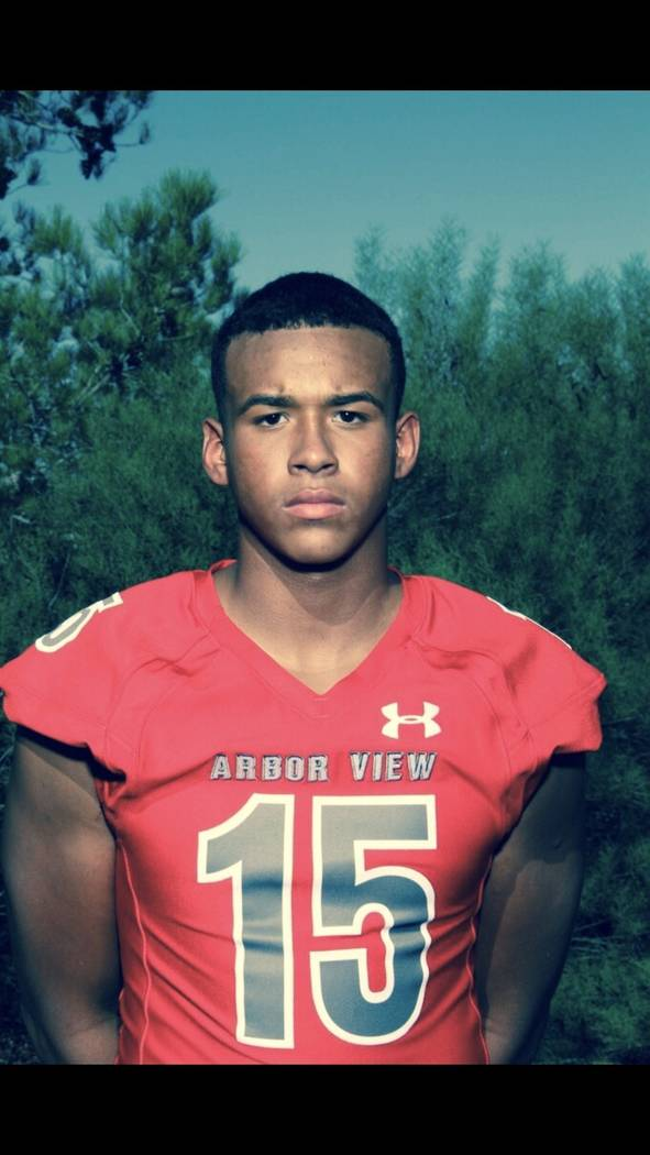 Arbor View's Billy Davis is a member of the Nevada Preps all-state football team.