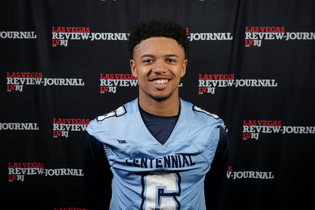 Centennial's Gerick Robinson is a member of the Nevada Preps all-state football team.