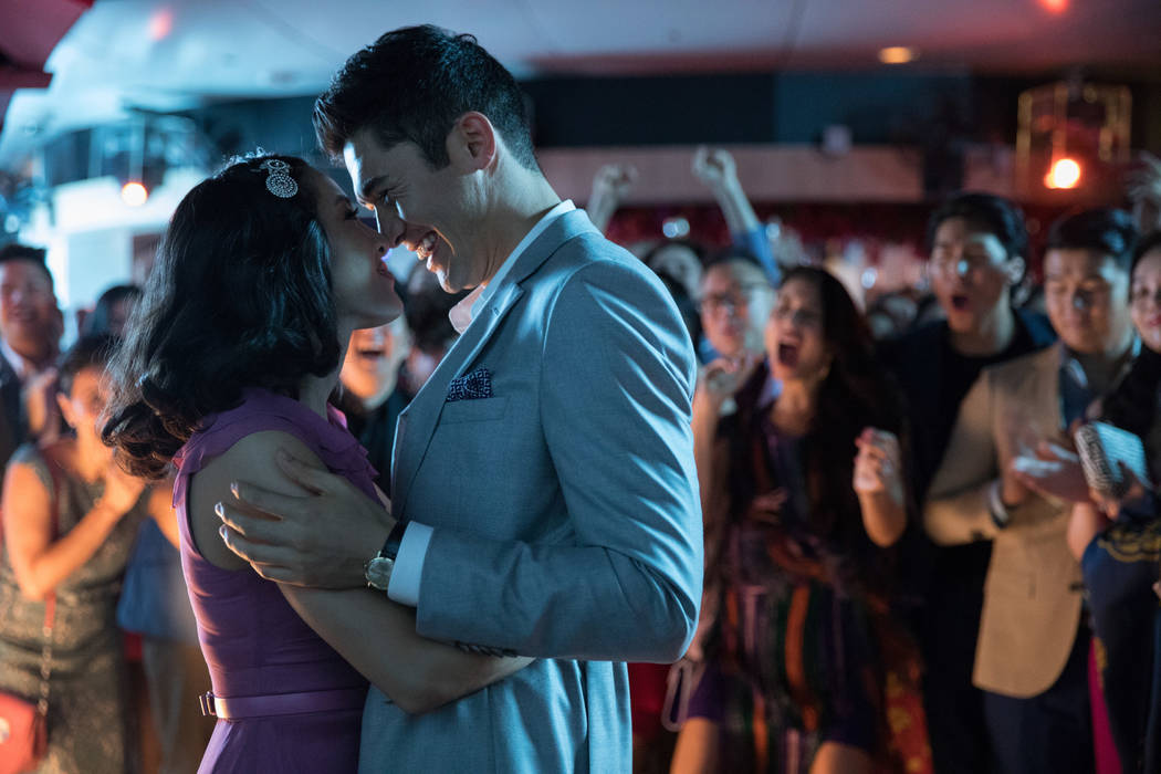 "Constance Wu as Rachel and Henry Golding as Nick in ""Crazy Rich Asians."" (Sanja Bucko/Warner Bros.)"