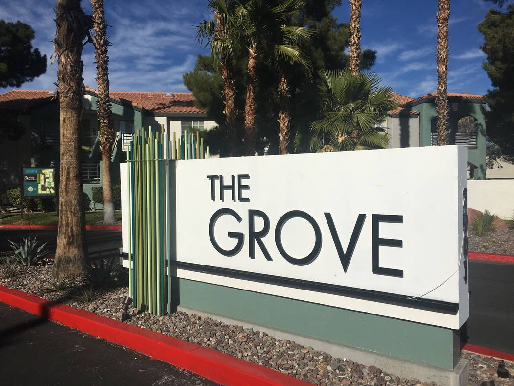 The Grove apartment complex at 2901 N. Rainbow Blvd. in Las Vegas, seen Thursday, Dec. 20, 2018, sold for $34.5 million in November. (Eli Segall/Las Vegas Review-Journal)
