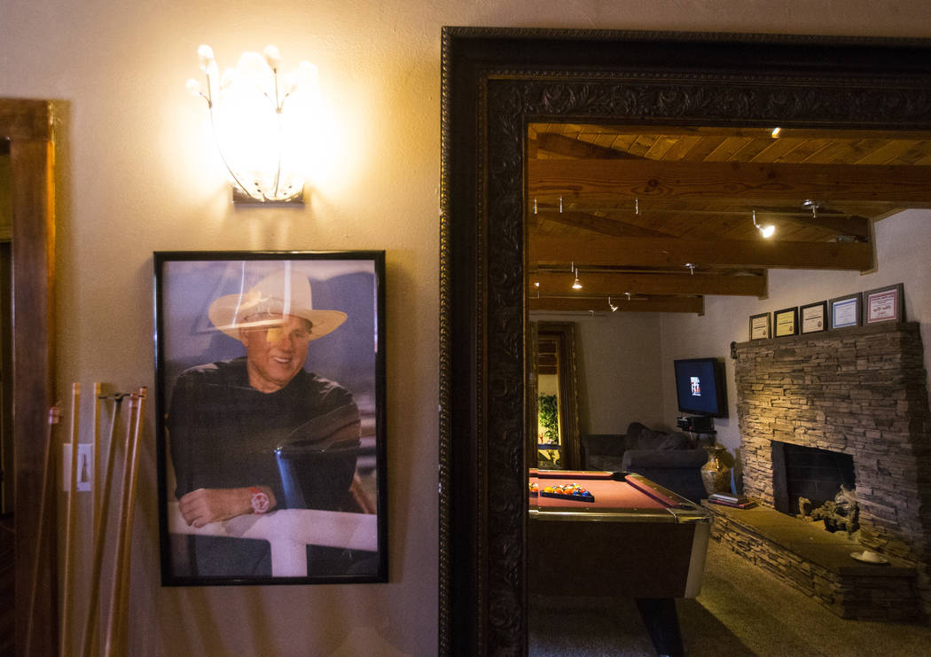 A portrait of brothel owner Dennis Hof at the Love Ranch brothel in Crystal, just north of Pahrump, on Friday, July 20, 2018. Chase Stevens Las Vegas Review-Journal @csstevensphoto