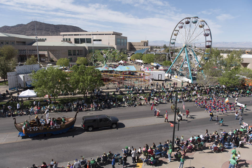 The 50th annual Southern Nevada Sons & Daughters of Erin St. Patrick's Day Parade & Festival is seen in downtown Henderson Saturday, March 12, 2016. Jason Ogulnik/Las Vegas Review-Journal