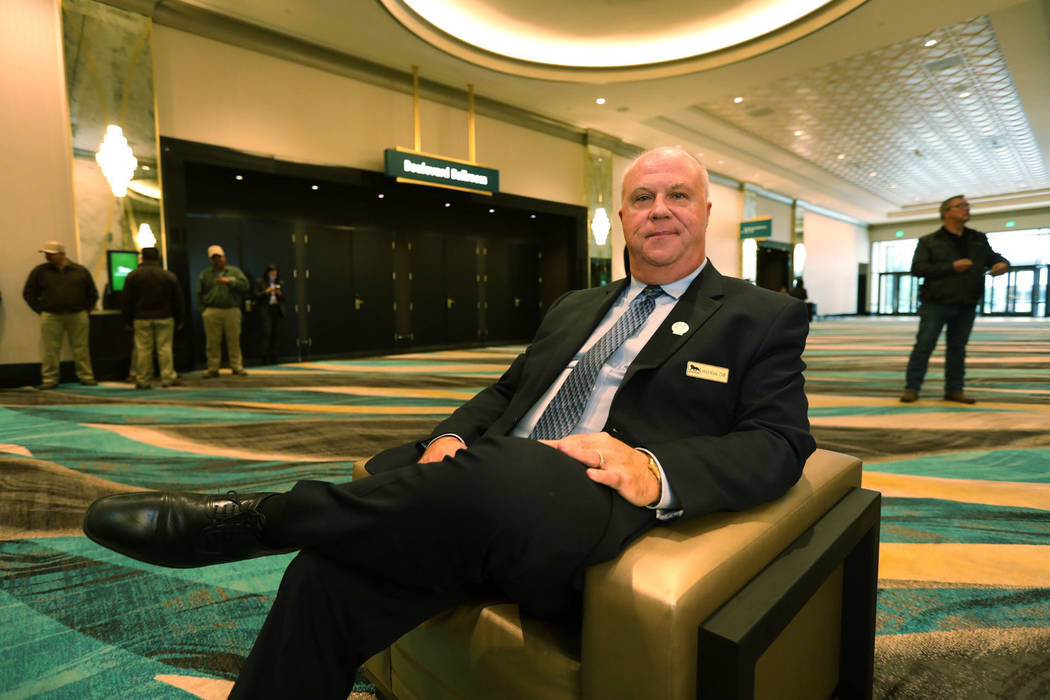 Mitchell Klock poses for a photo at the MGM Grand Conference Center in Las Vegas, Friday, Dec. 22, 2018. Klock was the 145th employee hired by MGM Grand in 1993. He still works at the property no ...