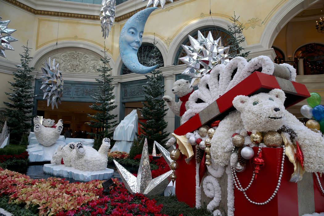 Majestic Holiday Magic at the Bellagio Conservatory & Botanical Gardens in Las Vegas Friday, Dec. 21, 2018. The display will be up through Jan. 6, 2019. K.M. Cannon Las Vegas Review-Journal @K ...