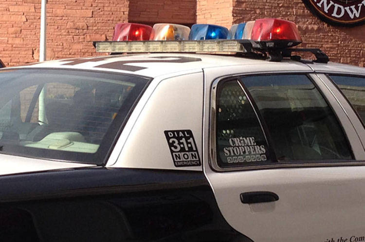 Las Vegas Metropolitan police car (Las Vegas Review-Journal)