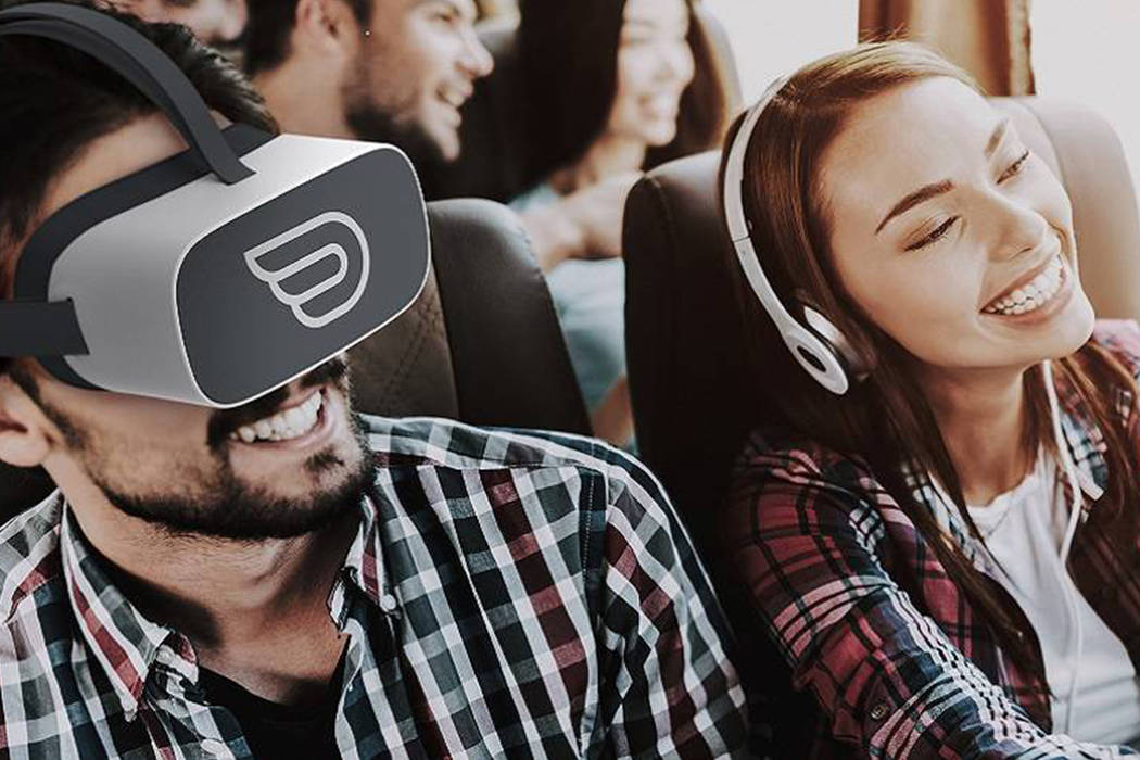 Yes, you can now take in virtual reality while riding the bus. (FlixBus)