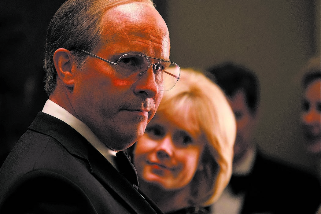 Christian Bale (left) stars as Dick Cheney and Amy Adams (right) stars as Lynne Cheney in Adam McKay's VICE, an Annapurna Pictures release. Credit : Matt Kennedy / Annapurna Pictures 2018 & ...