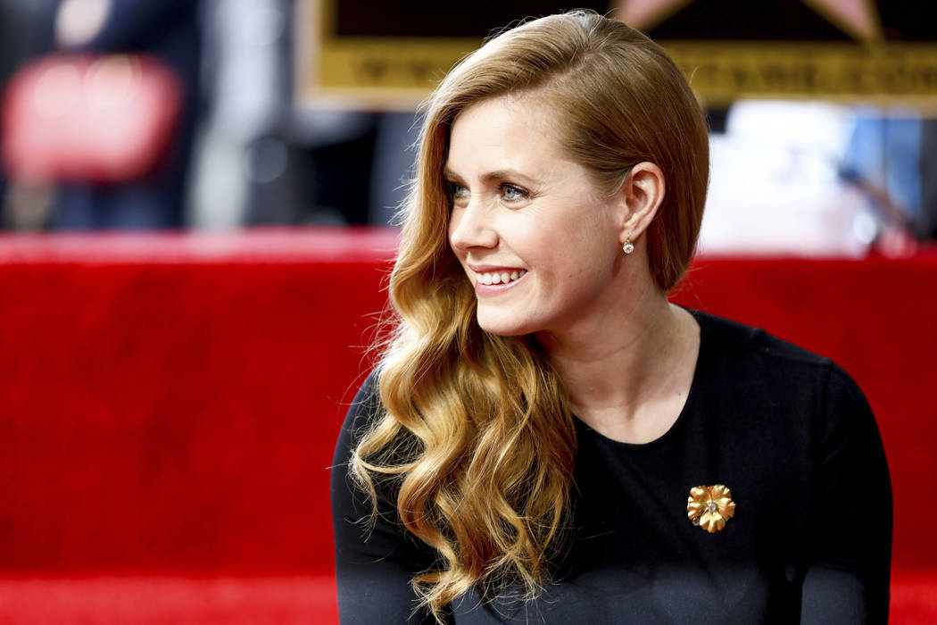 Amy Adams attends a ceremony honoring her with a star on the Hollywood Walk of Fame on Wednesday, Jan. 11, 2017, in Los Angeles. (Photo by Rich Fury/Invision/AP)