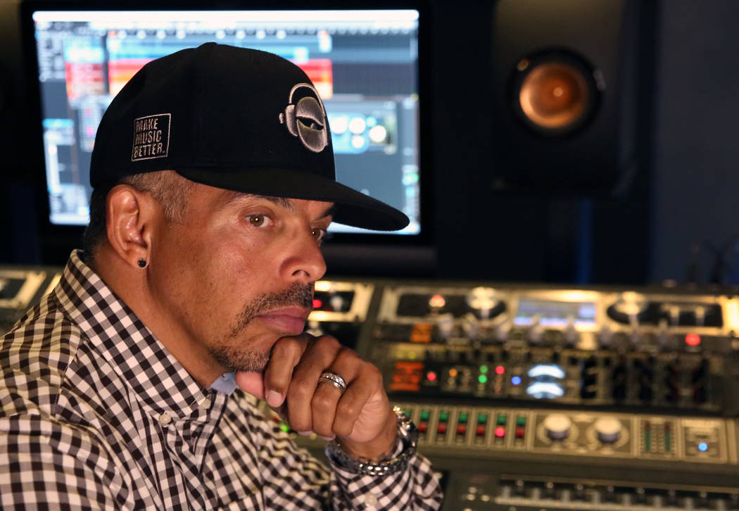 Ronnie Lee poses for a photo at his Las Vegas recording studio on Wednesday, Dec. 19, 2018. Bizuayehu Tesfaye Las Vegas Review-Journal @bizutesfaye