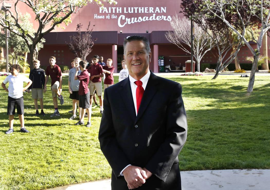 Dr. Steve Buuck, CEO of Faith Lutheran Middle School and High School, is seen in May. Bizuayehu Tesfaye/Las Vegas Review-Journal @bizutesfaye