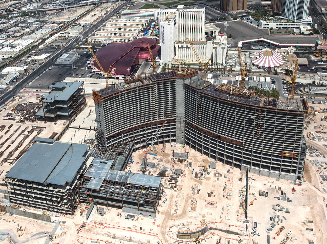 Construction continues on Resorts World Las Vegas on Wednesday, Aug. 22, 2018, in Las Vegas. Benjamin Hager Las Vegas Review-Journal @benjaminhphoto