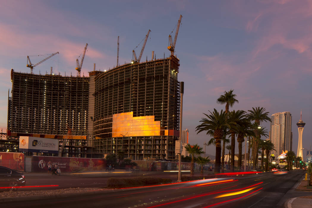 Construction continues at Genting Group's Resorts World Las Vegas on the Strip in Las Vegas on Friday, Oct. 26, 2018. Richard Brian Las Vegas Review-Journal @vegasphotograph