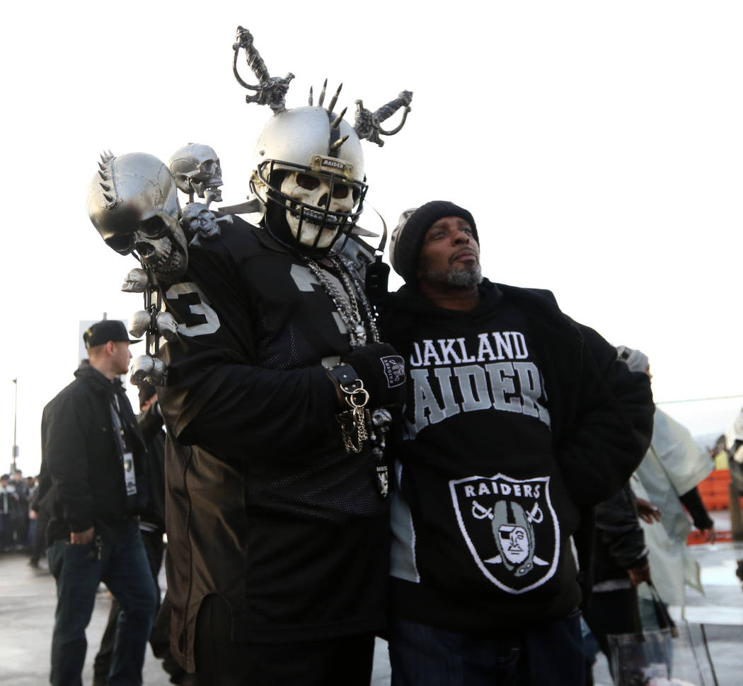 Tailgaters outside the Oakland-Alameda County Coliseum before what could be the last NFL game the Oakland Raiders play in Oakland, Calif., Monday, Dec. 24, 2018. Heidi Fang Las Vegas Review-Journa ...