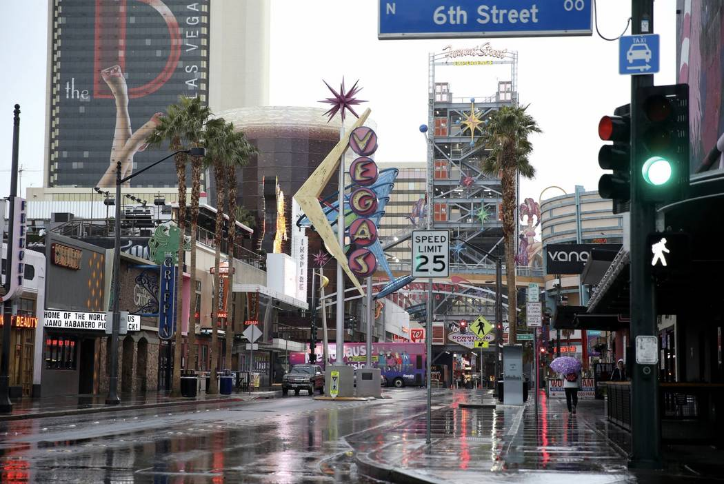 downtown las vegas saw rainy weather on christmas morning km cannon las vegas review