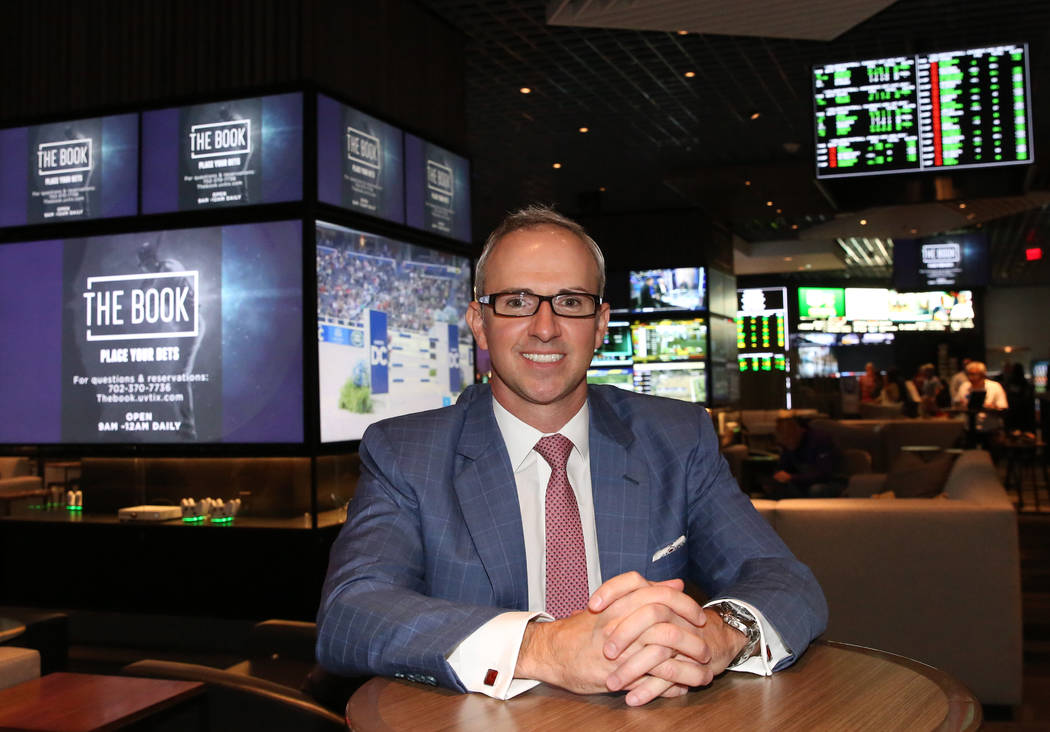 Christian Stuart, Caesars Entertainment's executive vice president, Gaming and Interactive Entertainment, poses for a photo at the LINQ's gaming floor on Friday, Nov. 2, 2018, in Las Vegas. (Bizua ...