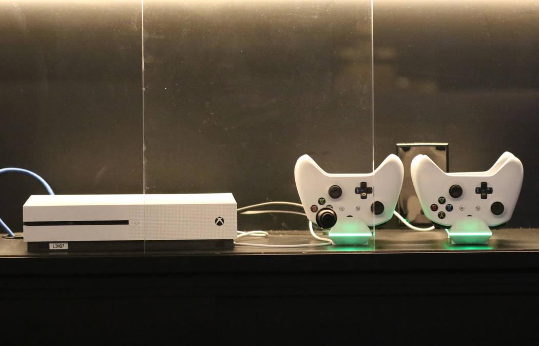Xbox one console is displayed at the LINQ's gaming floor on Friday, Nov. 2, 2018, in Las Vegas. (Bizuayehu Tesfaye/Las Vegas Review-Journal) @bizutesfaye