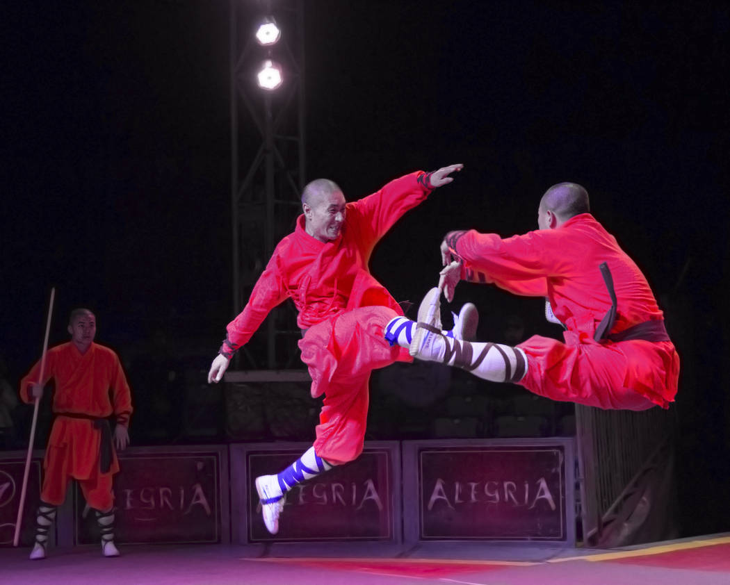 The Shaolin Warriors, from the Shaolin Temple in Henan province, China, perform during Global Winter Wonderland on Wednesday, Dec. 26, 2018, at Rio, in Las Vegas. Benjamin Hager Las Vegas Review-J ...