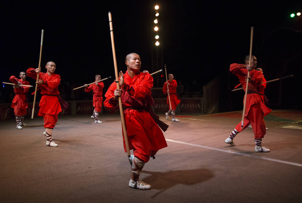 The Shaolin Warriors, from the Shaolin Temple in Henan, China, perform during Global Winter Wonderland on Wednesday, Dec. 26, 2018, at Rio, in Las Vegas. Benjamin Hager Las Vegas Review-Journal