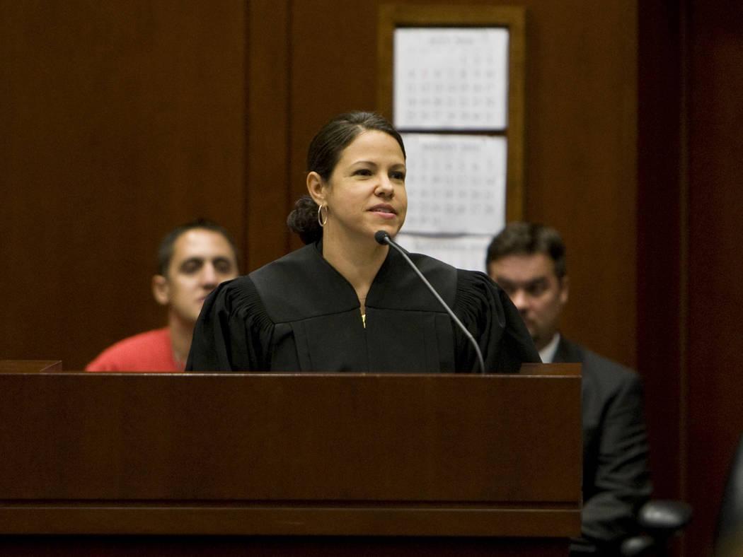 Judge Gloria M. Navarro, seen in 2010 (Las Vegas Review-Journal)