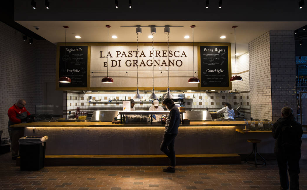 La Pasta Fresca e Di Gragnano before the ribbon cutting ceremony for Eataly at Park MGM in Las Vegas on Thursday, Dec. 27, 2018. Chase Stevens Las Vegas Review-Journal @csstevensphoto