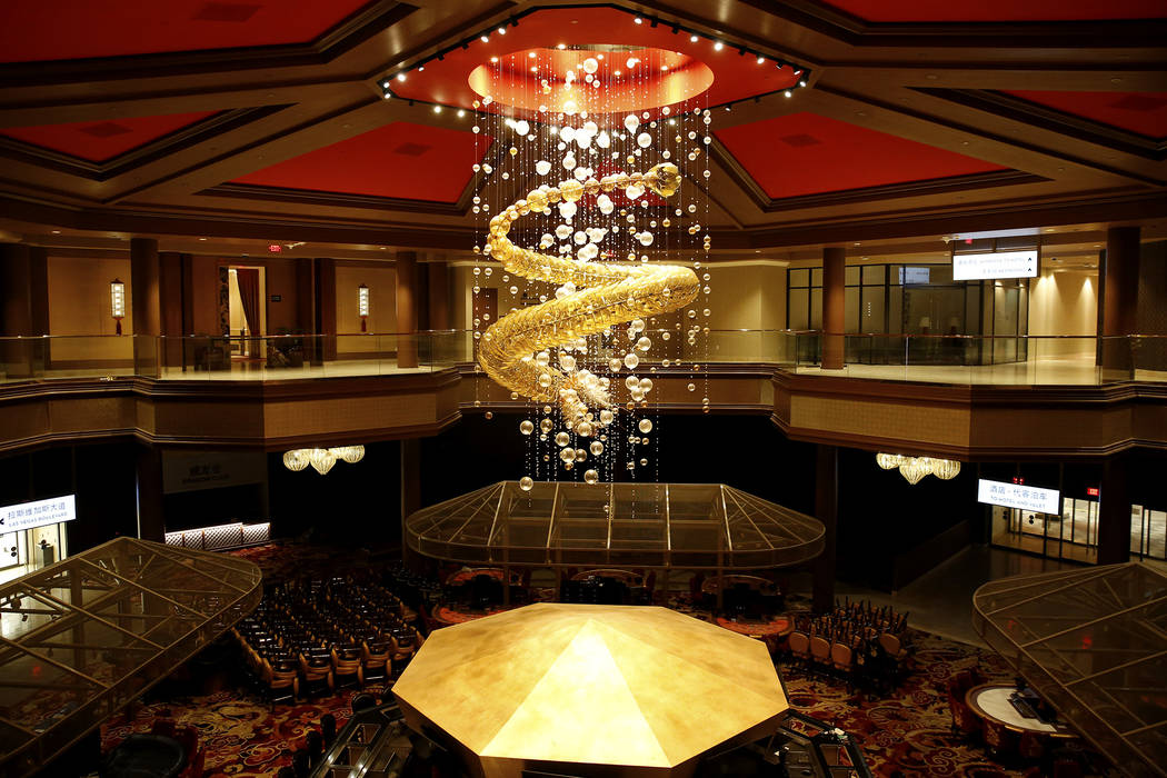The interior of Lucky Dragon, which shut down gaming and casino restaurant operations in early Jan., in Las Vegas on Monday, Feb. 19, 2018. (Las Vegas Review-Journal)