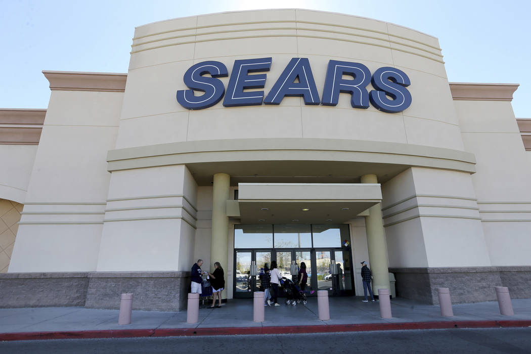 Sears department store at Marks Street and Warm Springs Road, shown Monday, Oct. 15, 2018. K.M. Cannon Las Vegas Review-Journal @KMCannonPhoto