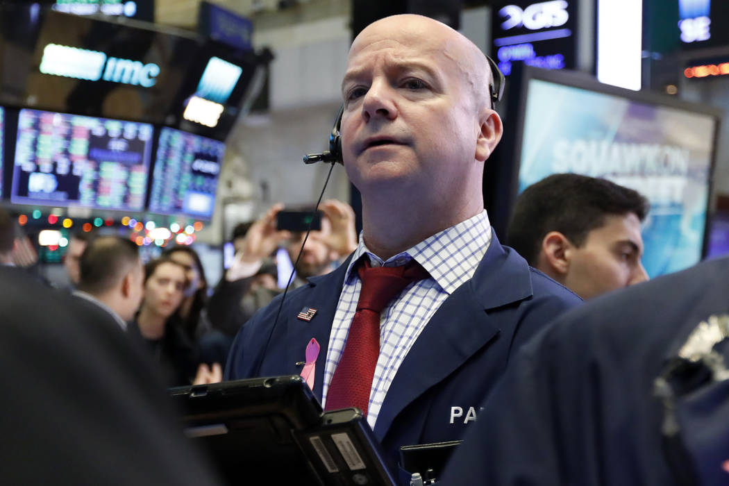 Trader Patrick Casey works on the floor of the New York Stock Exchange, Friday, Dec. 28, 2018. Stocks are opening higher Friday as U.S. markets try to maintain the momentum from a late-day rally o ...