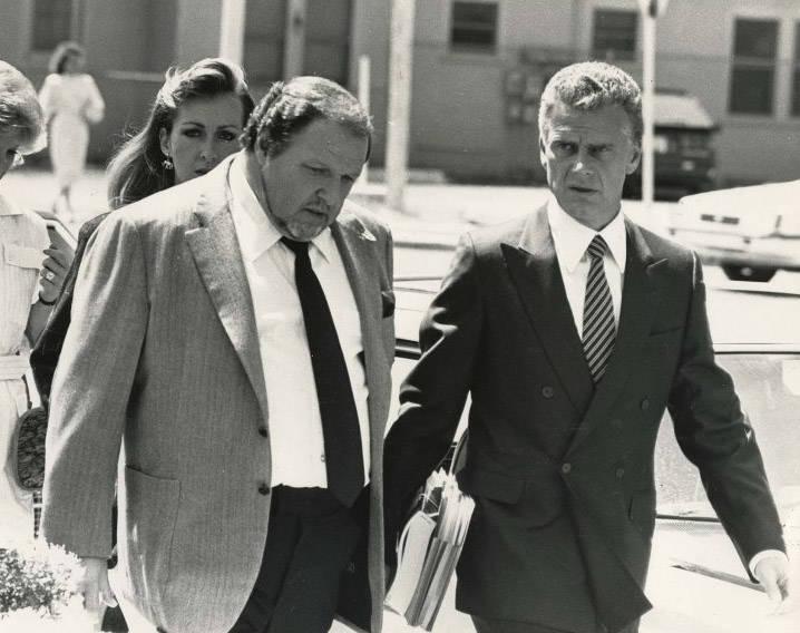 "Mob associate Herbert ""Fat Herbie"" Blitzstein, left, with his lawyer, John Momot. Blitzstein was fatally shot in January 1997. (File Photo)"