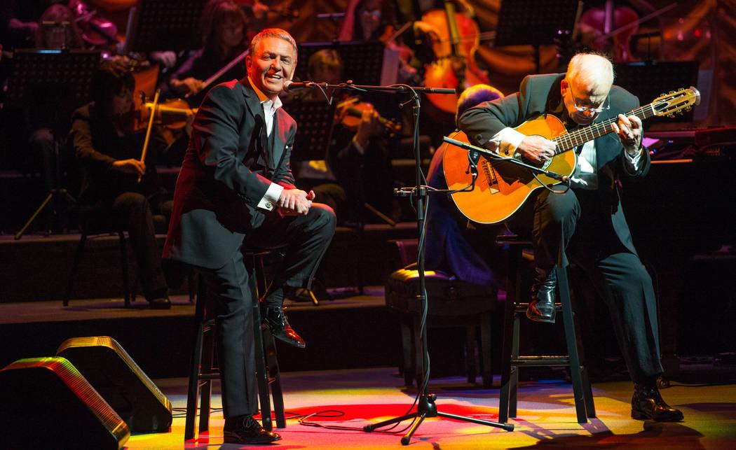 Bob Anderson and guitarist Joe Lano conjure a Brazilian moment in the tribute 'Frank - The Man. The Music.' (Courtesy)