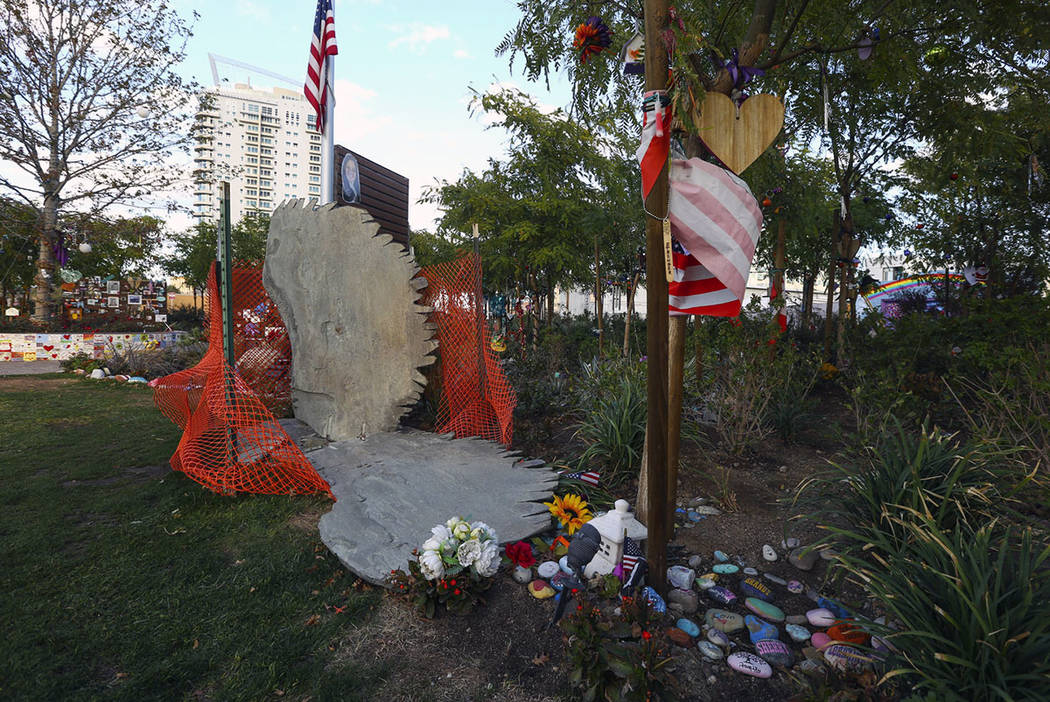 Statue For Shooting Victims Damaged In Las Vegas Healing Garden