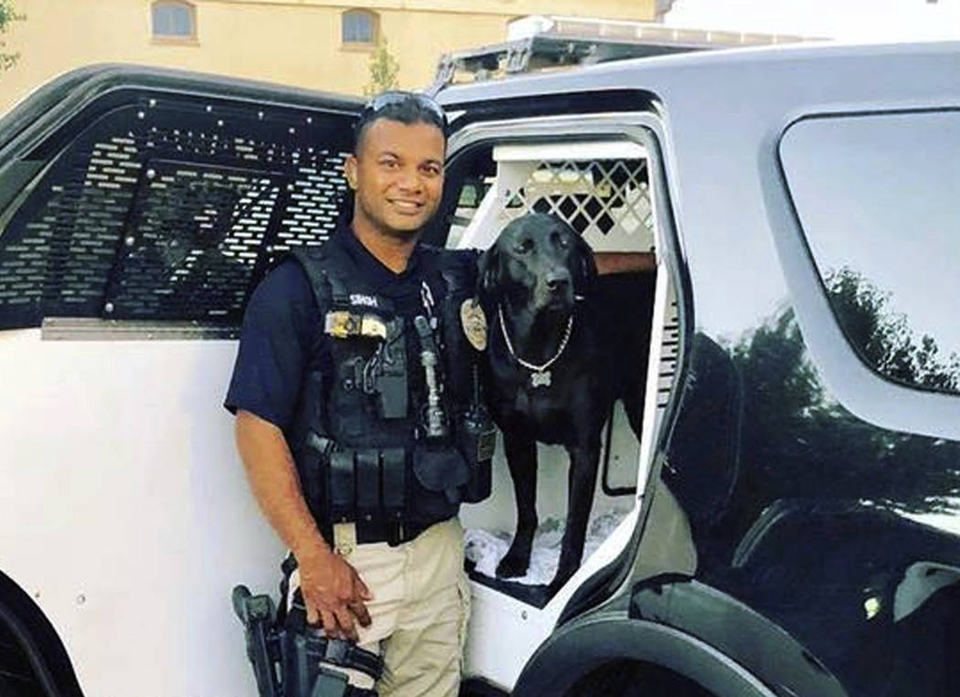 FILE - This undated file photo provided by the Newman Police Department shows officer Ronil Singh who was killed on duty conducting a traffic stop early Wednesday, Dec. 26, 2018, in the town of Ne ...
