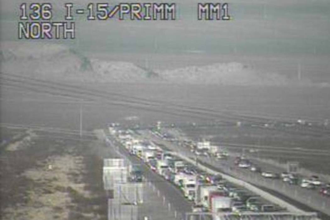 Drivers should expect bumper-to-bumper traffic Saturday afternoon near the state line when trying to enter or leave California. (RTC Traffic Cam)