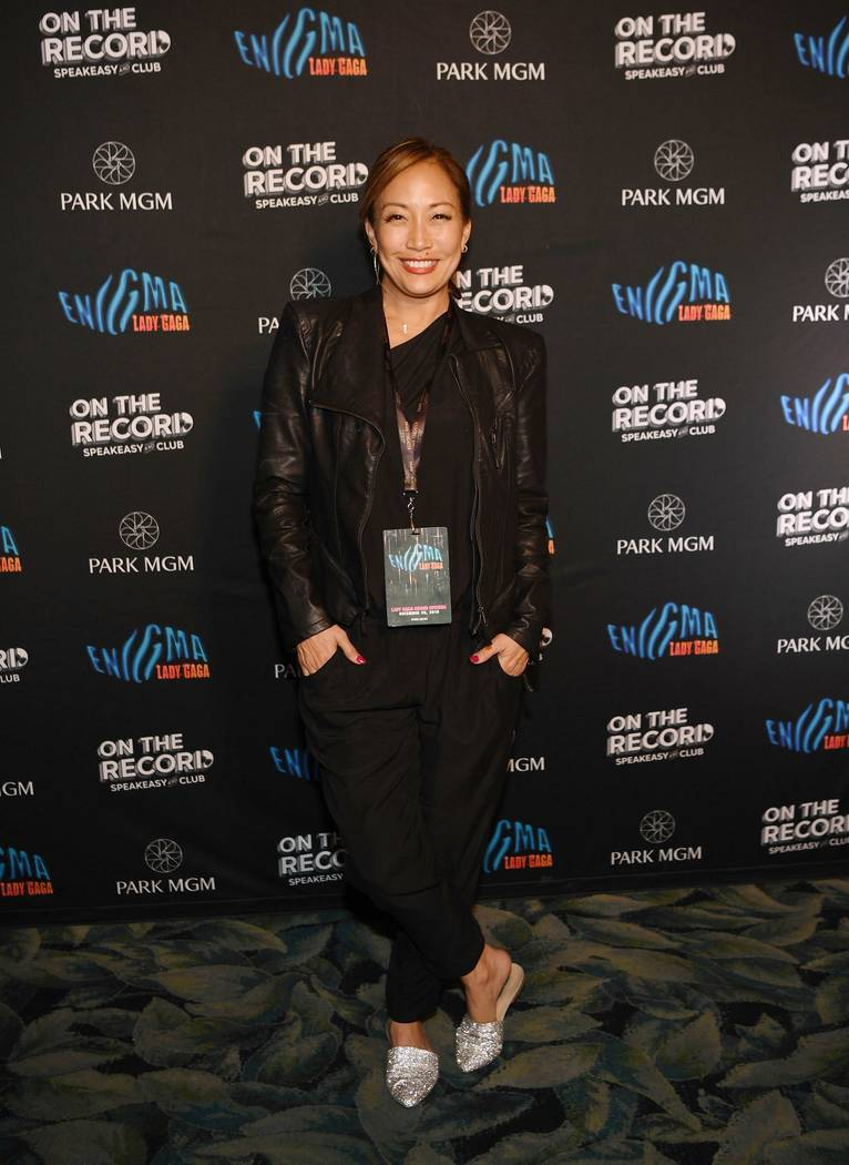 Carrie Ann Inaba arrives at Park MGM Grand opening weekend with Lady Gaga residency after-party at On The Record Speakeasy And Club at Park MGM on December 28, 2018 in Las Vegas, Nevada. (Photo b ...